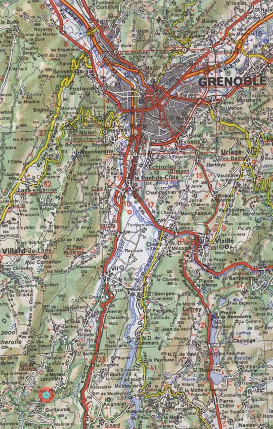 Grenoble Area Map